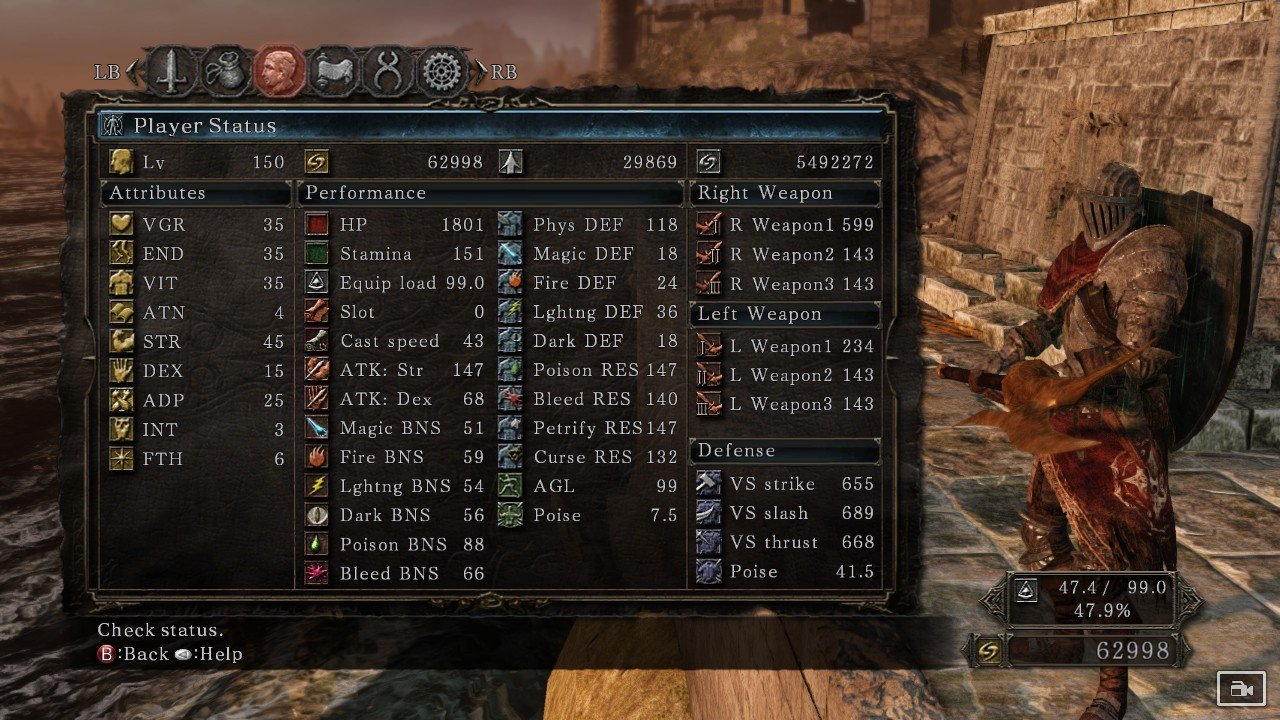 Level  Dark Souls  Warrior Build