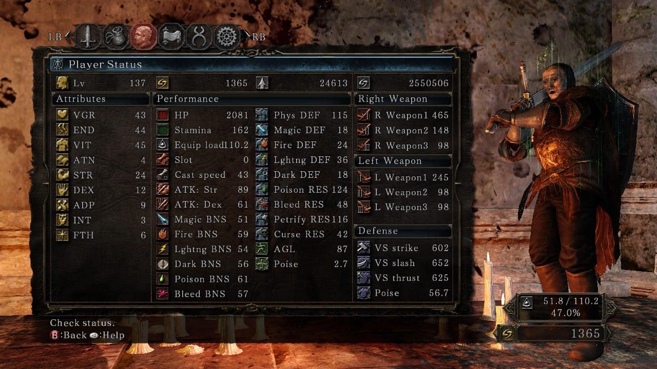 Dark Souls  Dark Infusion Build