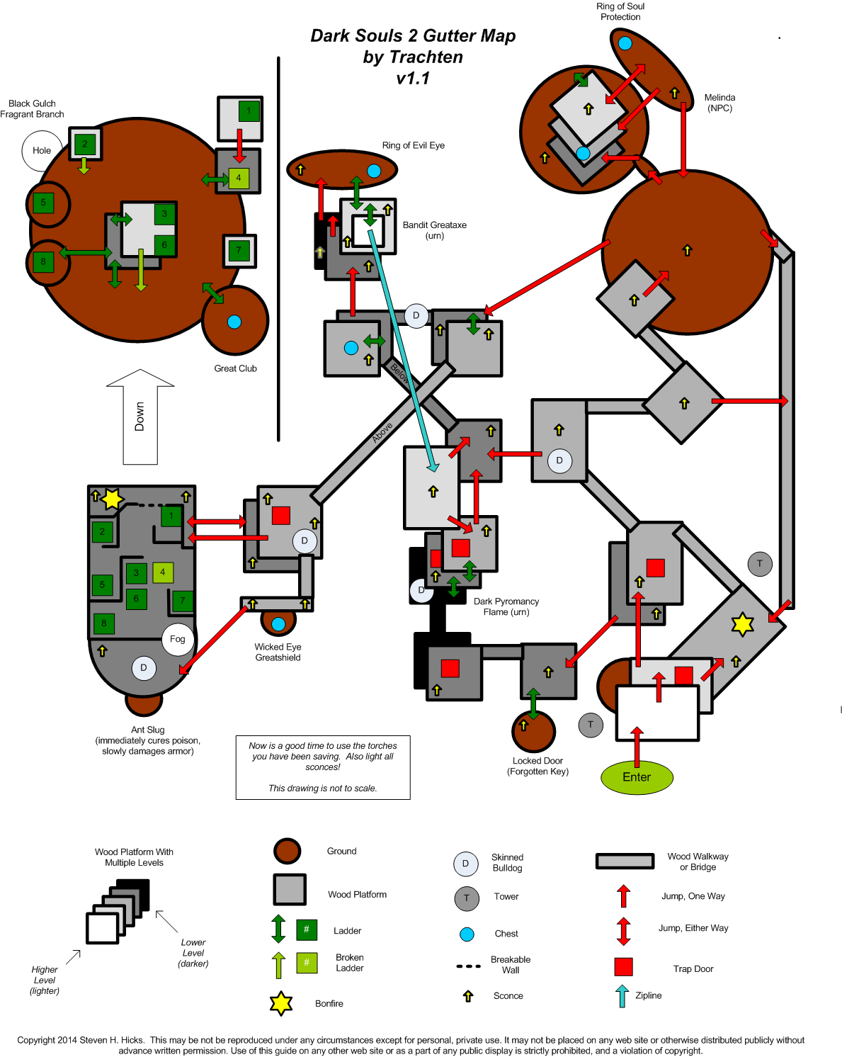 Maps dark souls 2 wiki the gutter map ccuart Images