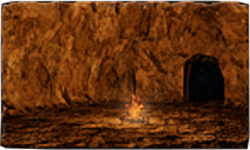 Under Castle Drangleic bonfire.png